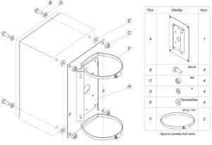 Установка коробок и шкафов монтажных на кронштейн КС-6