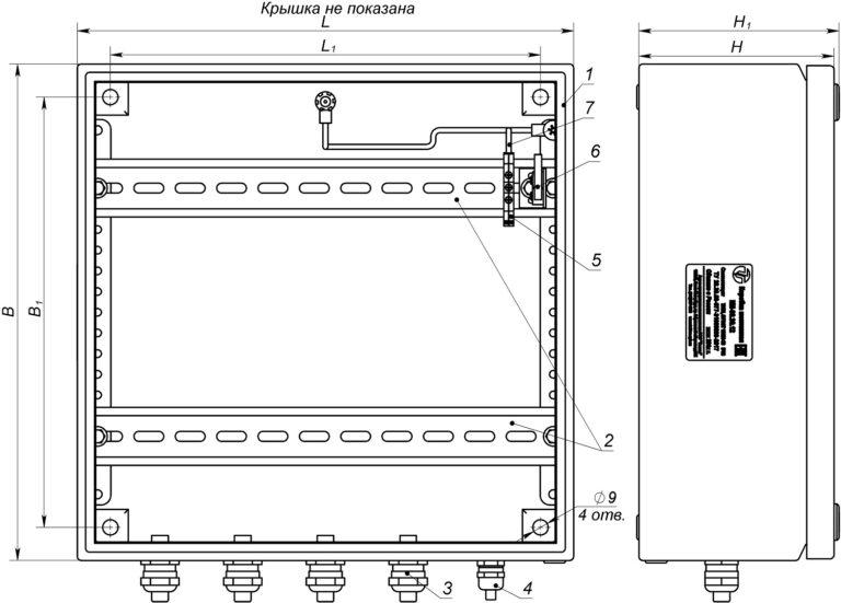 Устройство, габаритные и установочные размеры КМ